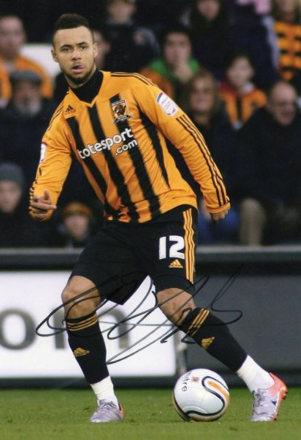 John Bostock, Hull City, signed 12x8 inch photo.